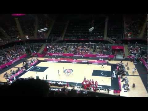 Russia VS. Brazil Basketball CROWD REACTION 2012 75-74 Incredible 3-Pointer to win. London Olympics