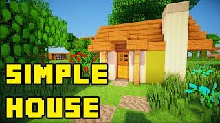 getlinkyoutube.com-Minecraft: Simple Survival House Build Tutorial Xbox/PC/PE/PS3