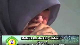 getlinkyoutube.com-Mamba'ul Ma'arif (Juara 1 lomba hadroh di PP Mayak Ponorogo 2012)