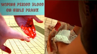 getlinkyoutube.com-Wiping Period Blood on Girls Prank : Bathroom Prank Gone Wrong