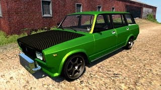 getlinkyoutube.com-BeamNG.Drive Mod : VAZ-2104 Drift Tuned (Crash test)
