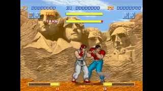 getlinkyoutube.com-[MUGEN ] Street fighter 1-   original Arcade control and power RYU