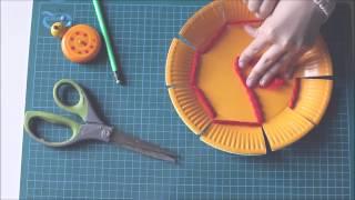 getlinkyoutube.com-Weaving a paper plate