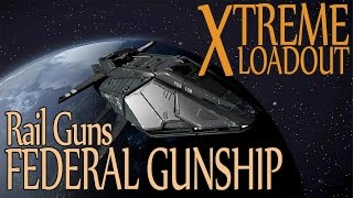 getlinkyoutube.com-Elite: Dangerous. Extreme Loadout. Federal Gunship with Railguns