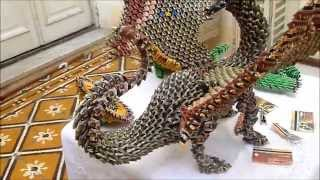 getlinkyoutube.com-Dragón - Origami 3d