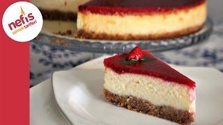 getlinkyoutube.com-Frambuazlı Cheesecake Tarifi | Meyve Soslu Cheesecake | Nefis Yemek Tarifleri