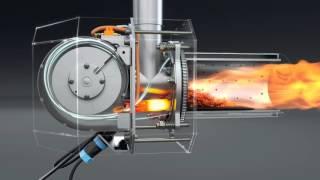 getlinkyoutube.com-Pellet burner. Пеллетная горелка для котла  http://kipi.pl/  Польша.