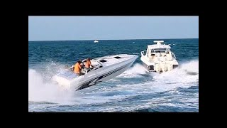 getlinkyoutube.com-Speed Boats at Haulover in Miami 5-25-2014