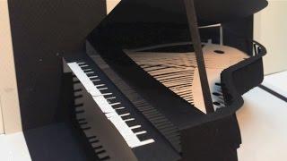 getlinkyoutube.com-飛び出すペーパークラフト グランドピアノ編