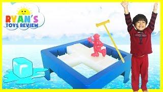 getlinkyoutube.com-DON'T BREAK THE ICE Challenge Family Fun Board games for kids Egg Surprise Toys Ryan ToysReview