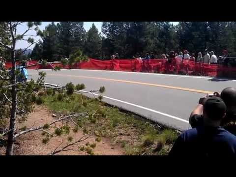 Crash at 2012 Pikes Peak International Hill Climb. PPIHC 2012.  Paul Dallenbach/ Monster