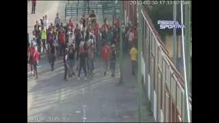 I tafferugli al San Filippo al termine della sfida tra Messina e Reggina