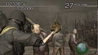 getlinkyoutube.com-Resident Evil 4 - Welcome To Hell Mode - Village - HUNK (699.000) HQ
