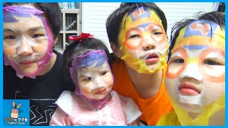 getlinkyoutube.com-뽀로로 인간 되다! 너는 누구냐? 외계인? ♡ 뽀로로 마스크 팩 얼굴 변신 댓글 챌린지 Pororo Mask Pack Challenge | 말이야와친구들 MariAndFriends