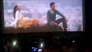 getlinkyoutube.com-1 Year for Superstar Mahesh Babu Srimanthudu 100 Days Function , Superfans Hungama at Theatres