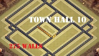 getlinkyoutube.com-CLASH OF CLANS| New Town Hall 10 (TH10) War Base - 275 Walls with Defense Replay
