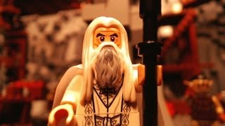 getlinkyoutube.com-LEGO Lord of the Rings, Saruman & The Orc Forges (Brickfilm)
