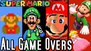 getlinkyoutube.com-Super Mario ALL GAME OVER SCREENS 1985-2015 (Wii U to NES)