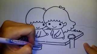 getlinkyoutube.com-ลิตเติ้ลทวินสตาร์ ลอยกระทง Little Twin Star by วาดการ์ตูนกันเถอะ สอนวาดรูป การ์ตูน