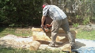 getlinkyoutube.com-Chainsaw milling experiment
