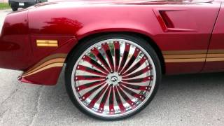 "getlinkyoutube.com-*WHEW! * Kandy T-Top Camaro Z28 on staggered 26"" Forgiato Autonomo's!"
