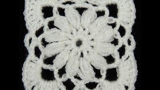 getlinkyoutube.com-Crochet : Cuadrado # 8