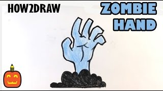getlinkyoutube.com-How to Draw a Zombie Hand - Halloween Drawings