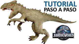 getlinkyoutube.com-Como hacer un indominus rex de plastilina / How to make a plasticine rex indominus
