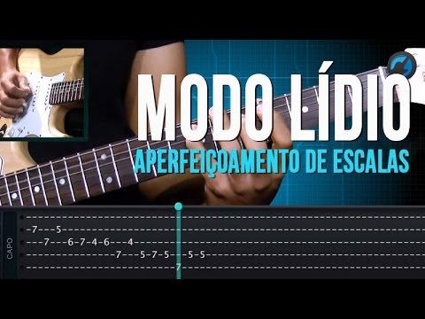 Modo L�dio - Aperfei�oamento de Escalas (aula t�cnica de guitarra)