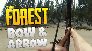 getlinkyoutube.com-The Forest Update v0.05 - BOW AND ARROWS CRAFTING!