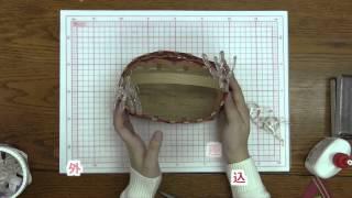 getlinkyoutube.com-【エムズファクトリー公式】 グラデーションカゴの編み方。クラフトバンド(紙バンド手芸)講座