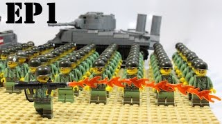 getlinkyoutube.com-LEGO: Building The Battle of Peleliu Take Down: EP1