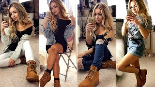 getlinkyoutube.com-HOW TO STYLE TIMBERLAND BOOTS / OUTFIT IDEAS