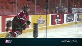 getlinkyoutube.com-Nathan MacKinnon at the CHL Top Prospects Sport Testing combine