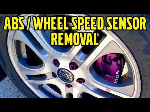 Volvo V50, ABS Speed Sensor Removal