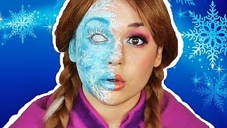 getlinkyoutube.com-ANNA HALF FROZEN MAKEUP TUTORIAL!