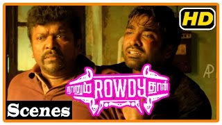 getlinkyoutube.com-Naanum Rowdy Dhaan Movie | Scenes | Mansoor Ali Khan and Parthiban kill each other
