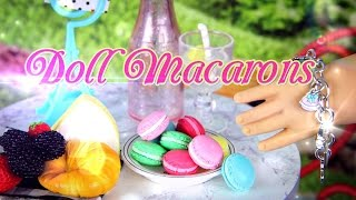getlinkyoutube.com-DIY - How to Make:  Doll Macaron - FRENCH DESSERT, COOKIE, CAKE - Handmade - Doll - Crafts