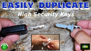 getlinkyoutube.com-How To EASLIY Duplicate High Security Keys