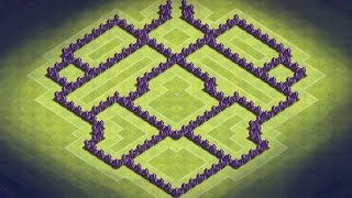 Clash of Clans | TH7 Hybrid Base + Defense Clips + Effective Traps