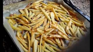 طريقة تحضير بطاطة فريت في الفرن   pomme de terre frit au four
