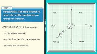 MSB Marathi भूमिती Std 10 | त्रिकोणमिती | प्रमाणित स्थितीतील कोन किंवा प्रमाणित कोन