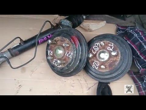 Рулевая рейка на Nissan Skyline  и задние ступицы на Honda Fit