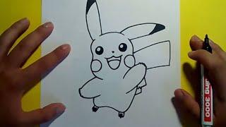 getlinkyoutube.com-Como dibujar a Pikachu paso a paso - Pokemon | How to draw Pikachu - Pokemon