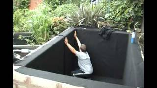 getlinkyoutube.com-Pond liner installation video from QBS Butyl (UK)