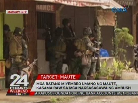 Mga batang miyembro umano ng Maute, kasama raw sa mga nagsasagawa ng ambush