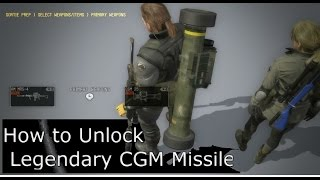getlinkyoutube.com-How to Unlock Cluster Guided Missile (CGM) and Killer Bee Metal Gear Solid 5 Phantom Pain