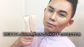 getlinkyoutube.com-BECCA Shimmering Skin Perfector, Liquid Highlighter | Demo & Review
