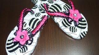 getlinkyoutube.com-Como decorar unas sandalias fácilmente en macrame ,#016 Manualidades la Hormiga