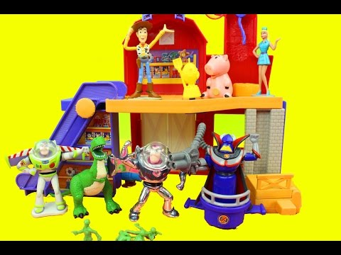Toy Story 2 Deluxe Playset Buzz Lightyear, Woody, Rex, Zurg, Barbie Just4fun290